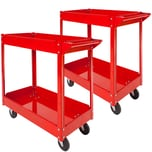 Tectake 2 Werkstattwagen mit 2 Böden rot