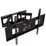 Tectake TV Wandhalterung schwenkbar neigbar für 32 81cm bis 65 165cm VESA max 600x400 bis 120kg schwarz