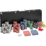 Tectake Pokerset inkl. Aluminiumkoffer schwarz 500-teilig