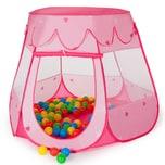 Tectake Spielzelt mit 100 Bällen pink
