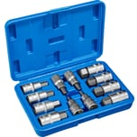 Tectake Innensechskant Steckschlüsselsatz 12 tlg blau