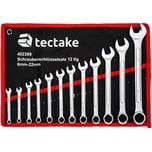 Tectake Schraubenschlüssel Set 12 tlg schwarz rot