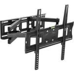 Tectake TV Wandhalterung individuell schwenkbar neigbar für 26 66cm 55 140cm VESA max 400x400 bis 100kg schwarz