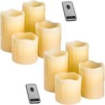 Tectake 2 Sets LED Kerzen mit Fernbedienung weiß