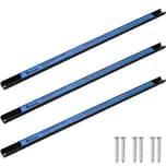 Tectake 3 Magnetleisten Werkzeughalter 60 cm schwarz blau