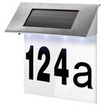 Tectake Solar Hausnummerleuchte silber