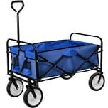 Tectake Faltbarer Bollerwagen blau