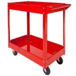 Tectake Werkstattwagen mit 2 Böden rot