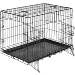 Tectake Hundebox Gitter tragbar 89 x 58 x 65 cm