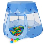 Tectake Spielzelt mit 100 Bällen blau