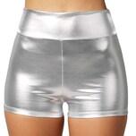 Tectake Metallic hotpants silber silber