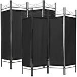 Tectake 2 Raumteiler schwarz