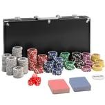 Tectake Pokerset inkl. Aluminiumkoffer schwarz 300-teilig