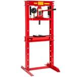 Tectake Hydraulikpresse mit 12t Pressdruck rot
