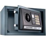 Tectake Elektronischer Safe Tresor mit Schlüssel und LED Anzeige inkl Batterien schwarz