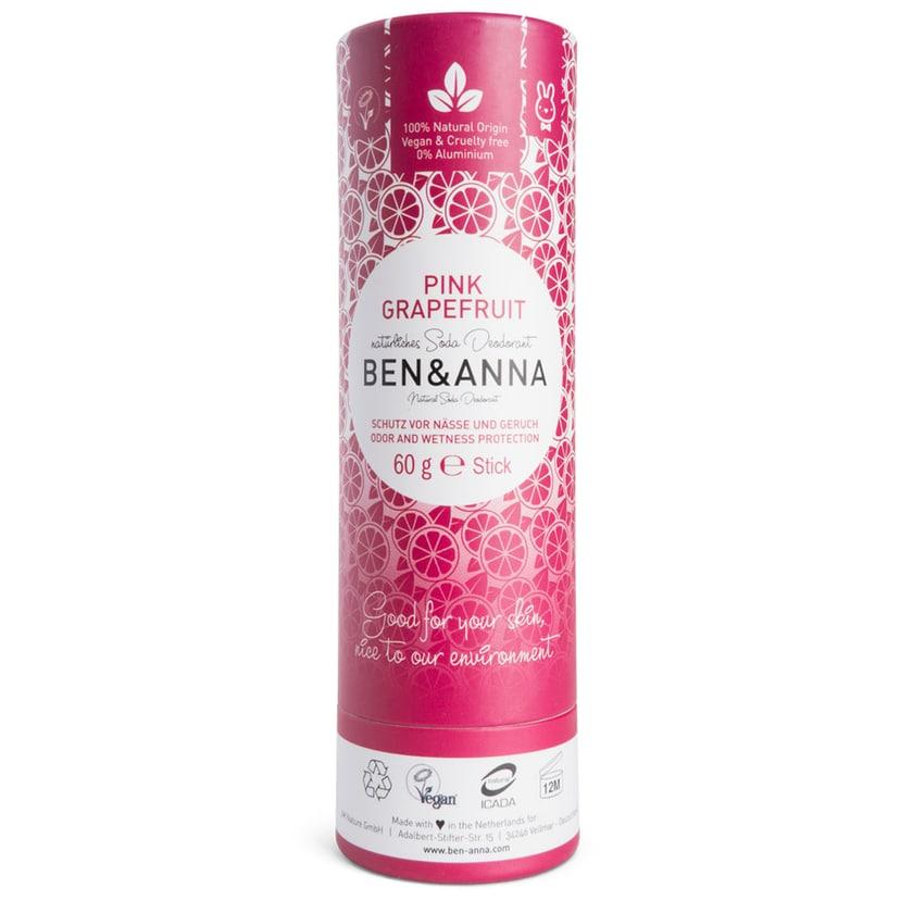 Ben & Anna Pink Grapefruit Deo papertube 60g