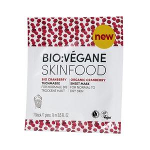 Bio Végane Skinfood Cranberry Tuchmaske 16ml