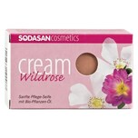 Sodasan Cream Wildrose Seife 100g
