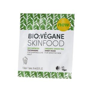 Bio Végane Skinfood Grüntee Tuchmaske 16ml