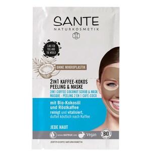 Santé 2in1 Kaffee-Kokos Peeling & Maske 2x4ml