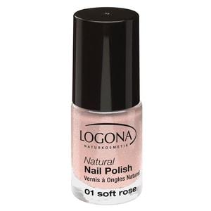 Logona Natural Nail Polish 01 Soft Rose 4ml