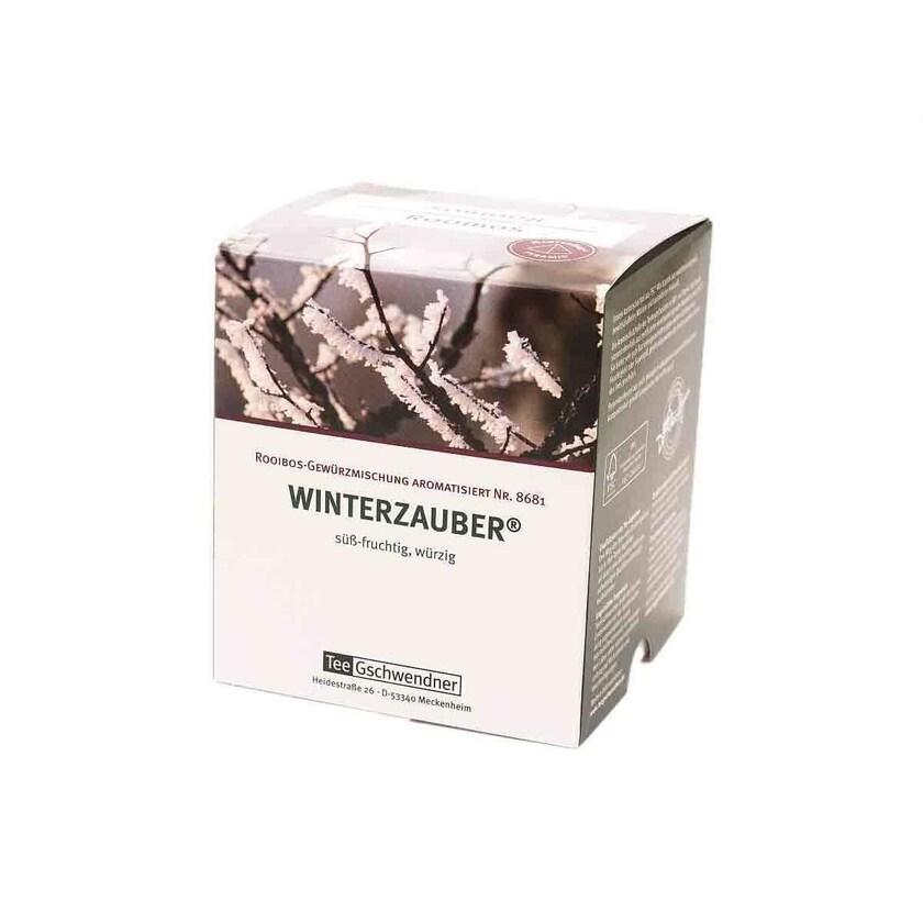 TeeGschwendner Rooibos Winterzauber® MasterBag Glas Pyramid Tee 15st, 30g