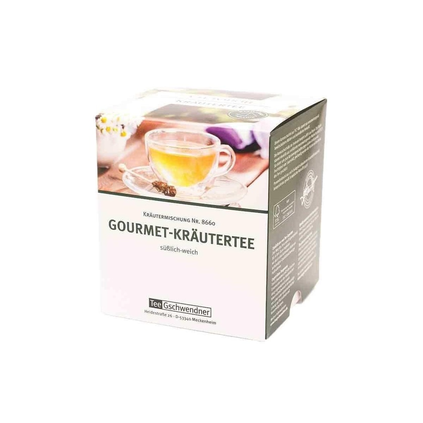 TeeGschwendner Gourmet Kräutertee MasterBag Glas Pyramid Tee 12st, 18g