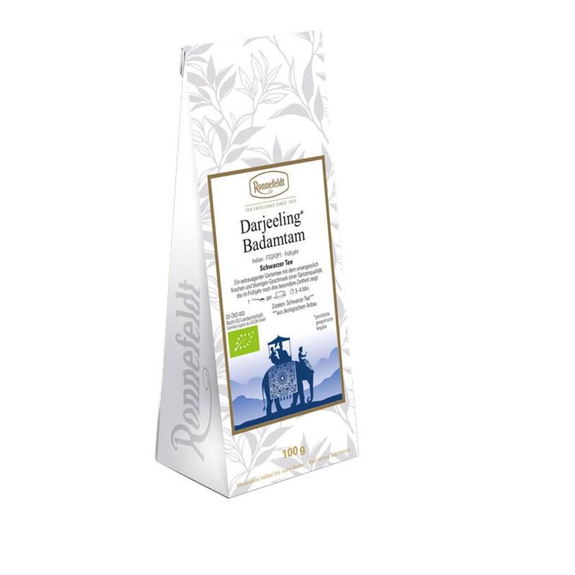 Ronnefeldt Tee Darjeeling Badamtam Bio schwarzer Tee aus Indien 100g