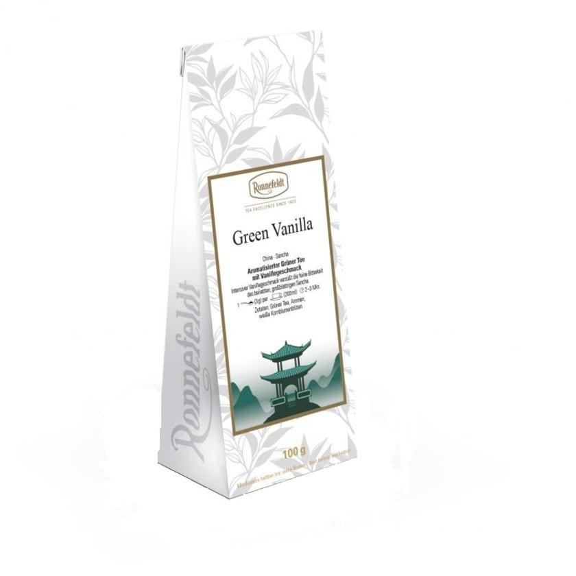 Ronnefeldt Tee Green Vanilla aromatisierter grüner Tee 100g