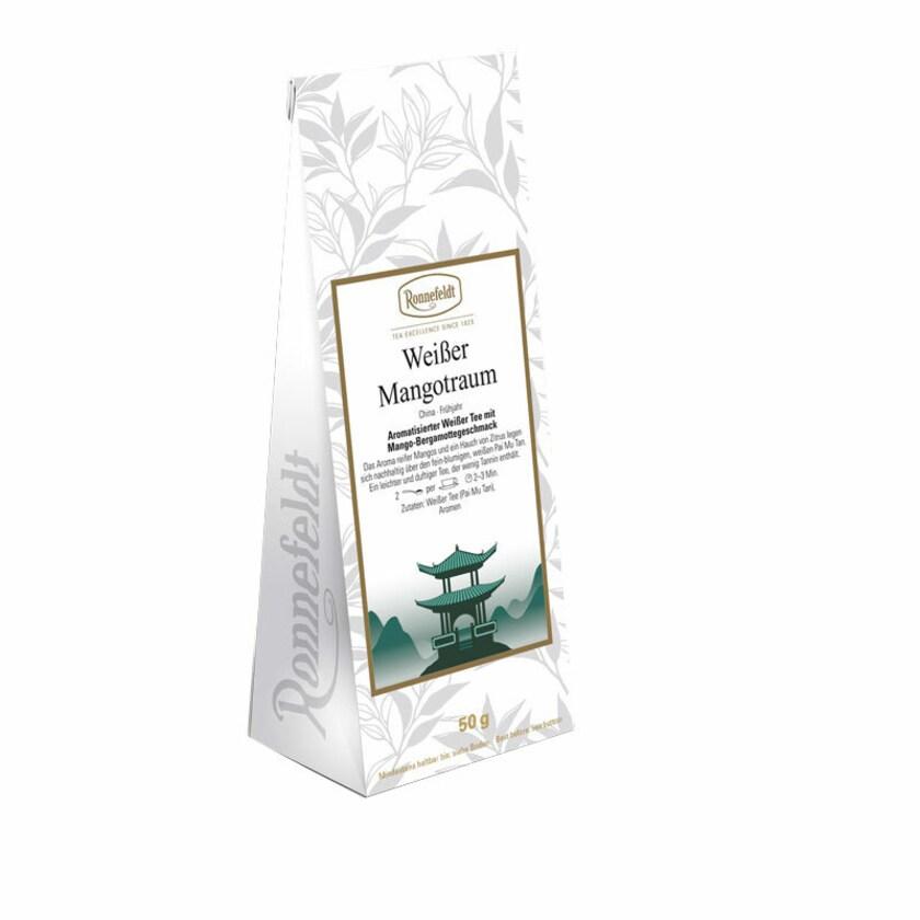 Ronnefeldt Tee Weißer Mangotraum aromatisierter weißer Tee 50g