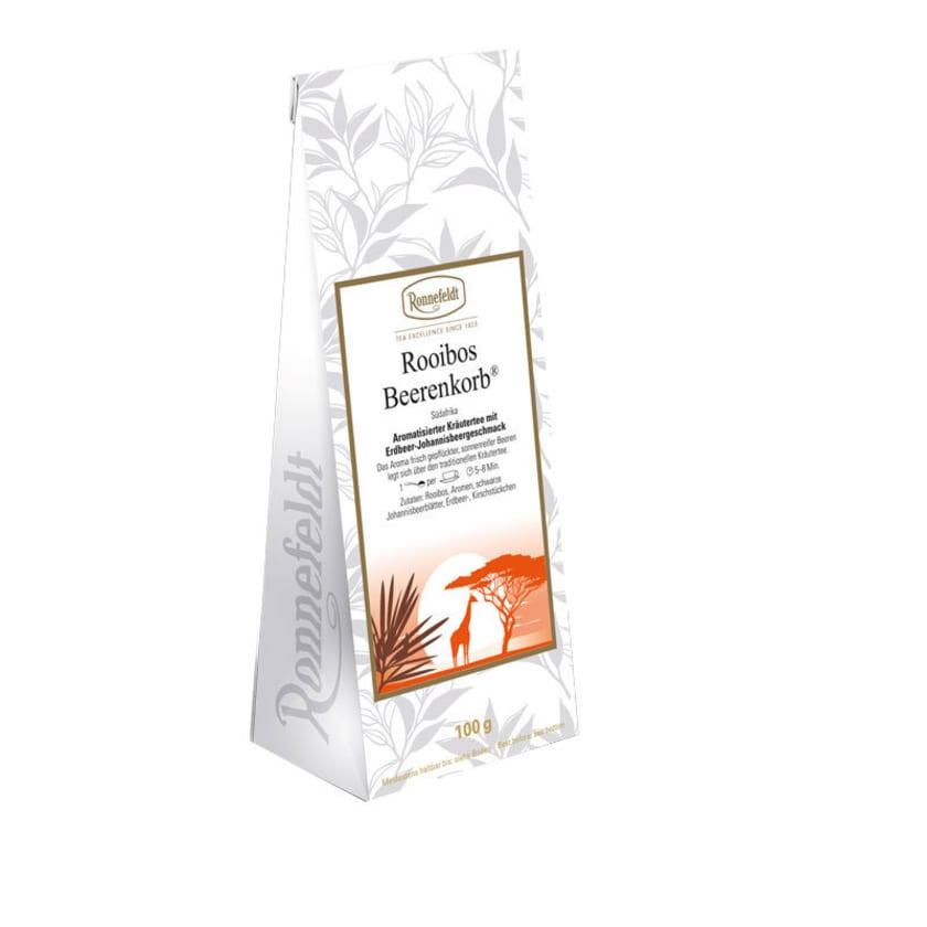 Ronnefeldt Tee Rooibos Beerenkorb aromatisierter Kräutertee 100g
