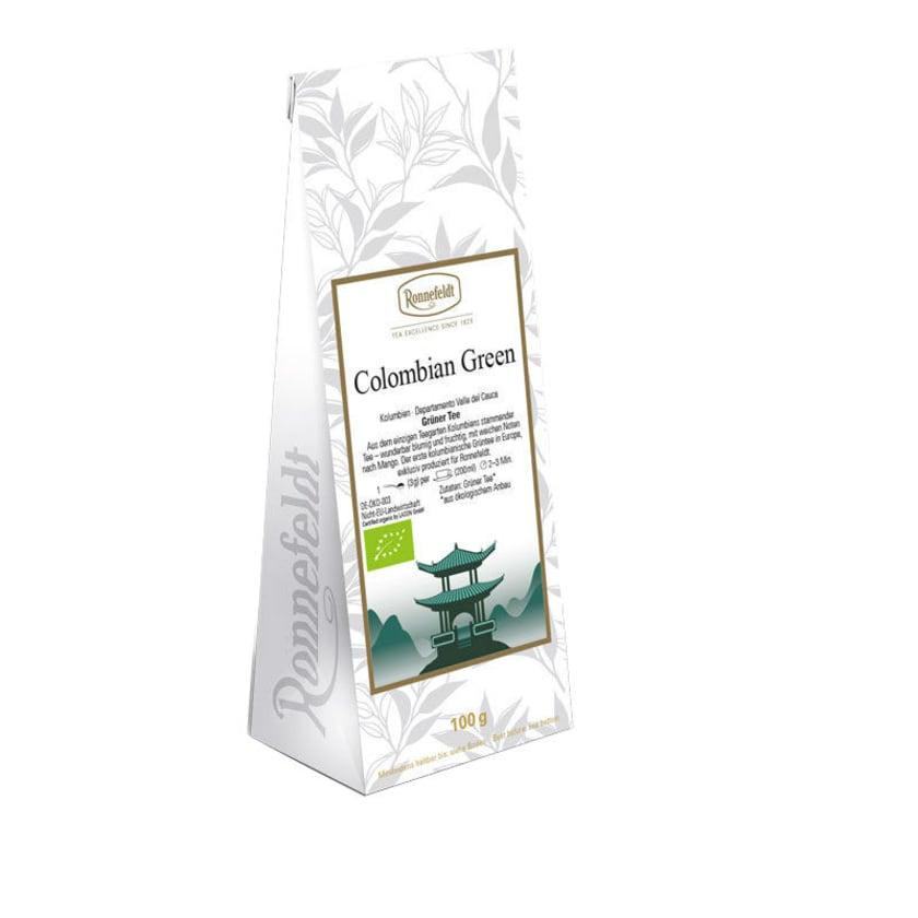 Ronnefeldt Tee Colombian Green Bio grüner Tee 100g