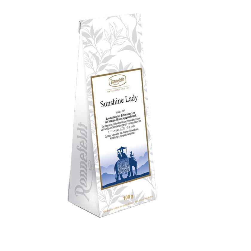 Ronnefeldt Tee Sunshine Lady aromatisierter schwarzer Tee 100g