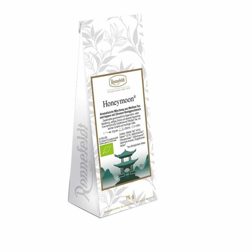 Ronnefeldt Tee Honeymoon Bio aromat. Mischung weißer Tee und Kräuter 75g