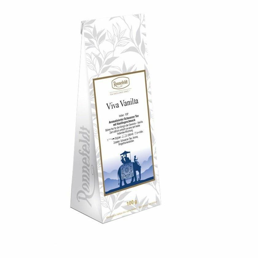Ronnefeldt Tee Viva Vanilla (ehem. Bourbon Vanilla) aromatisierter schwarzer Tee 100g