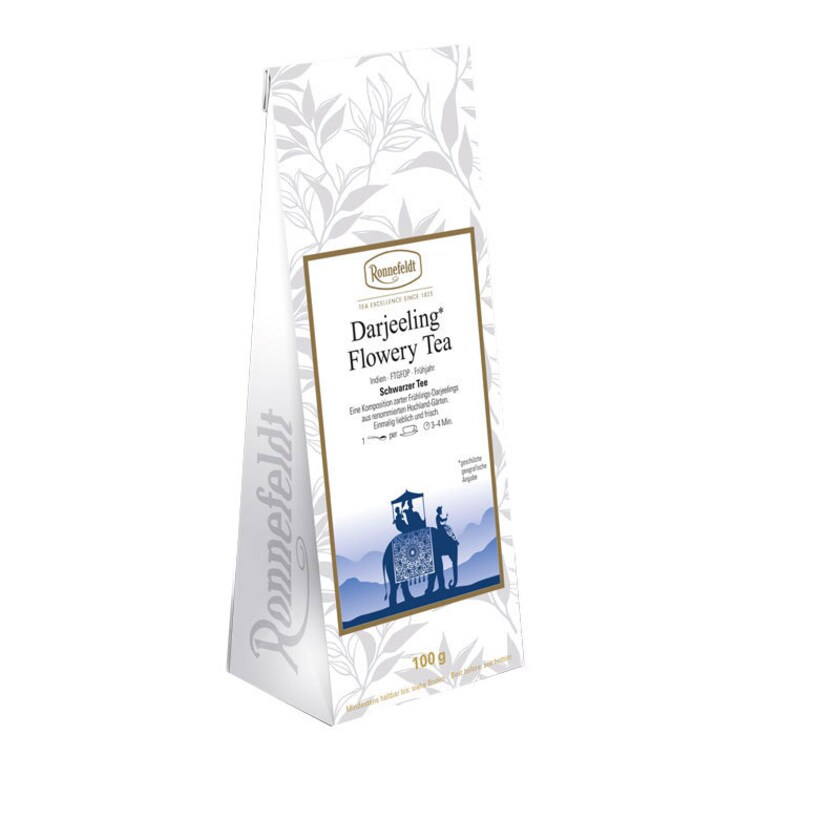 Ronnefeldt Tee Darjeeling Flowery Tea schwarzer Tee aus Indien 100g