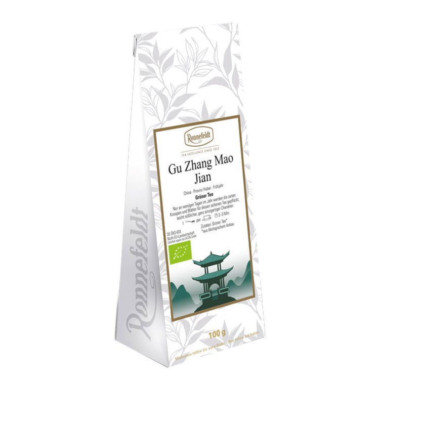 Ronnefeldt Tee Gu Zhang Mao Jian Bio grüner Tee aus China 100g