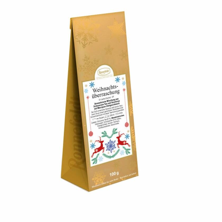 Ronnefeldt Tee Weihnachtsüberraschung aromatisierter schwarzer Tee 100g