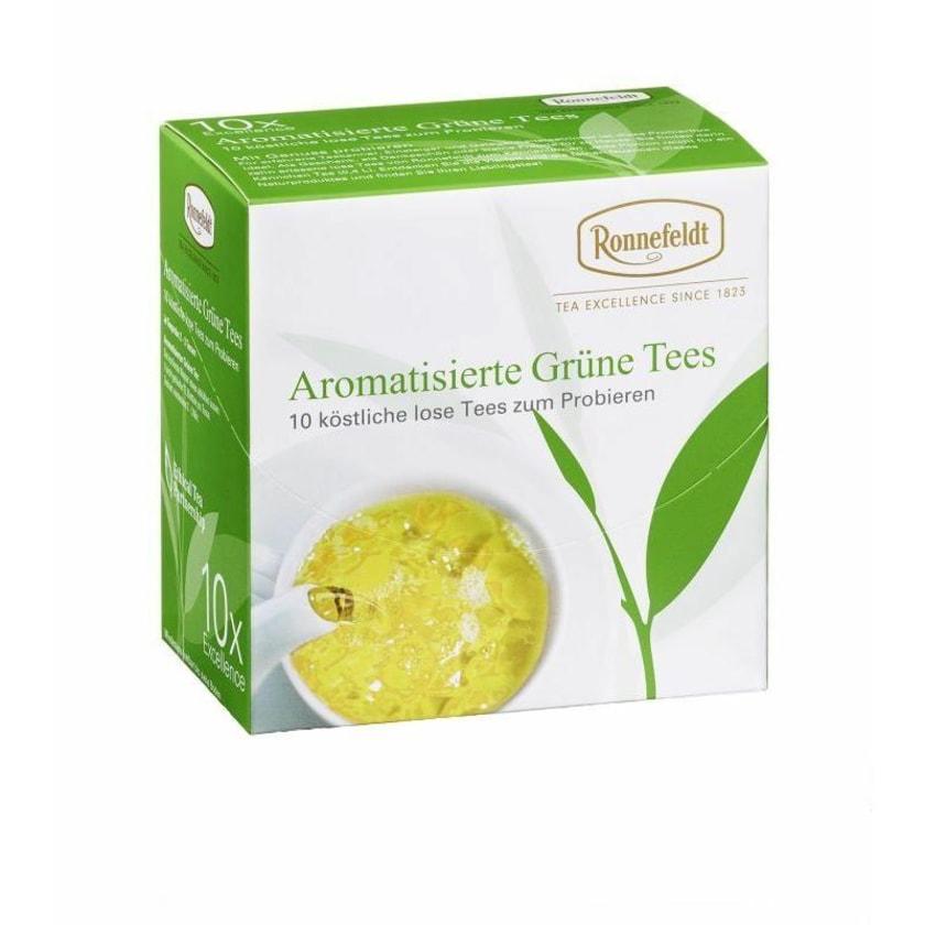 Ronnefeldt Tee Probierbox Aromatisierte Grüne Tees 10x3,9g 39g