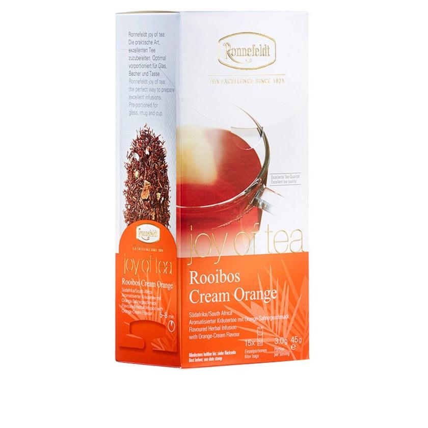 Ronnefeldt Tee Joy of Tea Rooibos Cream Orange aromat. Kräutertee 15 Teebeutel (Caddy) 45g