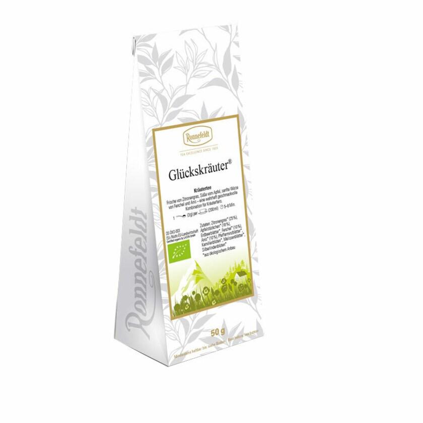Ronnefeldt Tee Glückskräuter Bio Kräutermischung 50g