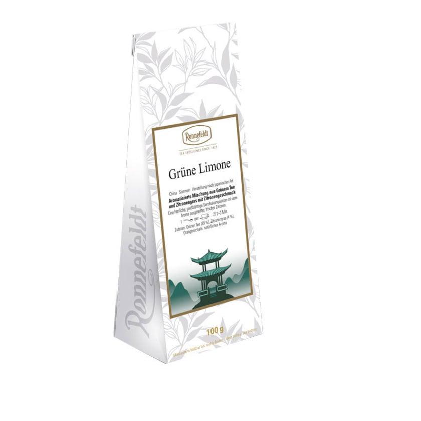 Ronnefeldt Tee Grüne Limone aromatisierter grüner Tee 100g