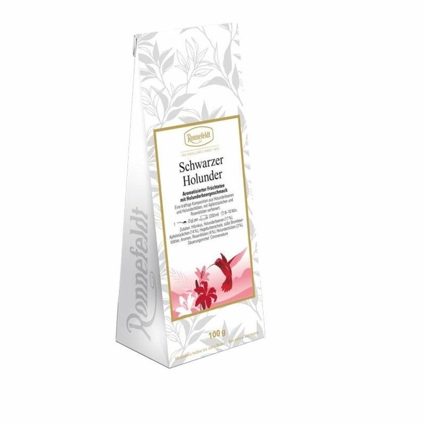 Ronnefeldt Tee Schwarzer Holunder aromatisierter Früchtetee 100g