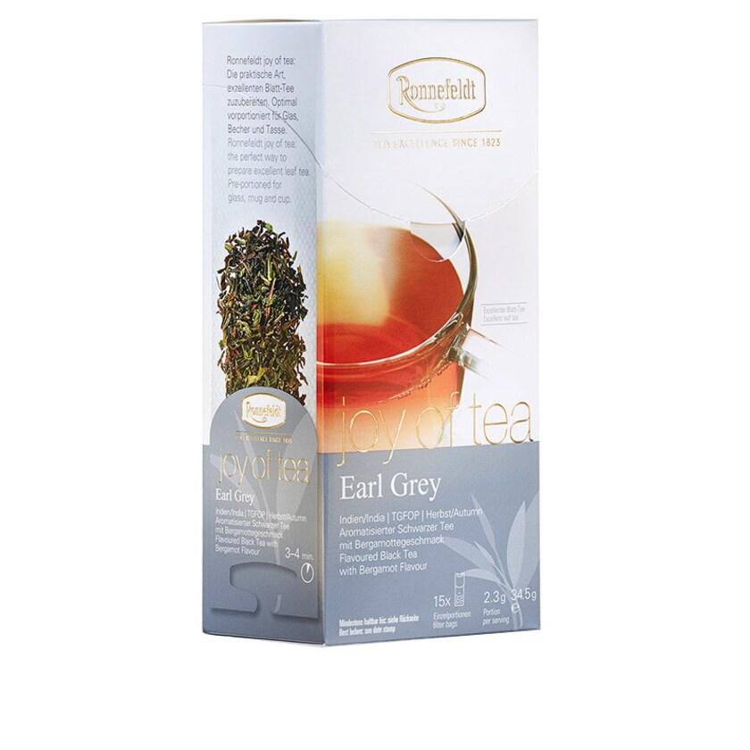 Ronnefeldt Tee Joy of Tea Earl Grey aromat. schwarzer Tee 15 Teebeutel (Caddy) 34,5