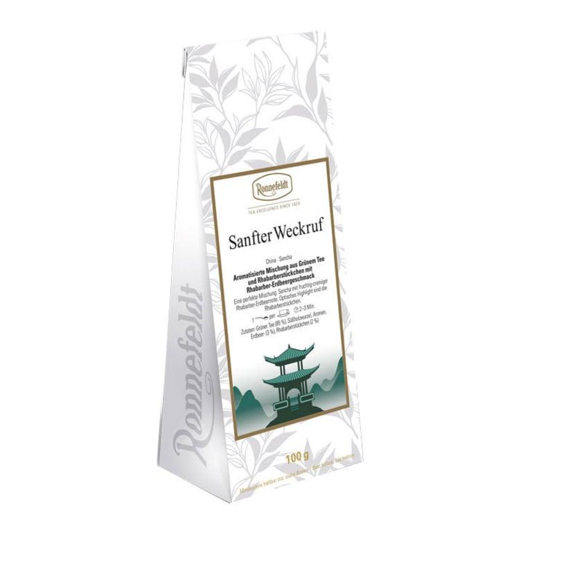 Ronnefeldt Tee Sanfter Weckruf aromat. grüner Tee Rhabarber-Erdbeere 100g