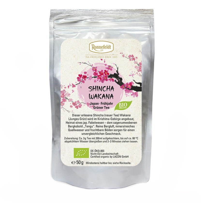 Ronnefeldt Tee Shincha Wakana Bio grüner Tee aus Japan 50g
