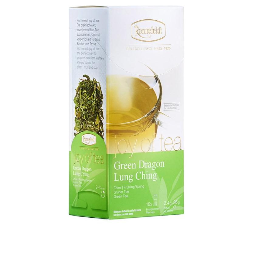 Ronnefeldt Tee Joy of Tea Lung Ching grüner Tee 15 Teebeutel (Caddy) 36g