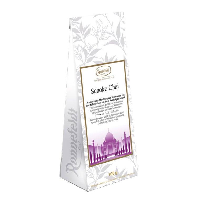 Ronnefeldt Tee Schoko Chai aromatisierter schwarzer Tee 100g 100g