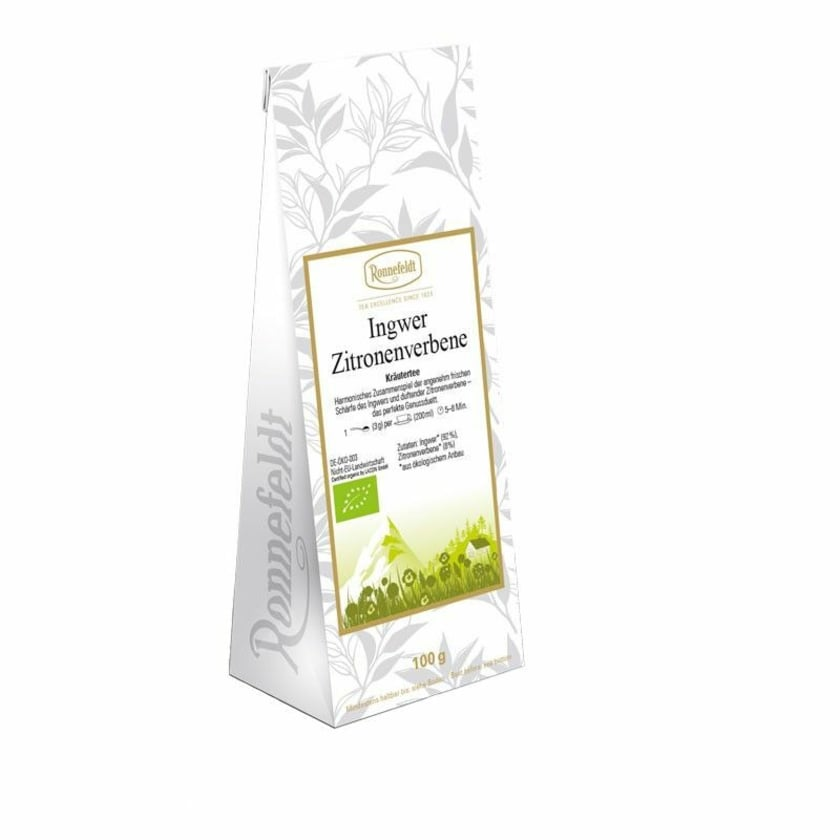 Ronnefeldt Tee Ingwer Zitronenverbene Bio Kräuterteemischung 100g