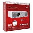 Imperial Dabman i450 Küchenunterbauradio Internet- DAB+ & UKW-Radio mattweiß-silber